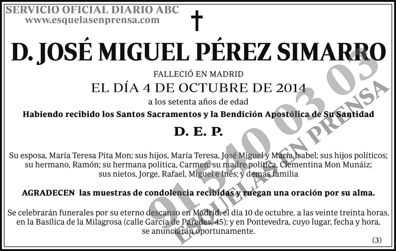 José Miguel Pérez Simarro
